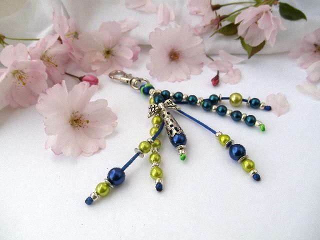 - Handgemachter Schlüsselanhänger mit Schutzengel Blau Grün - Handgemachter Schlüsselanhänger mit Schutzengel Blau Grün