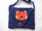 - Brustbeutel - Portemonnaie - Brusttasche Katze für Kinder  - Brustbeutel - Portemonnaie - Brusttasche Katze für Kinder
