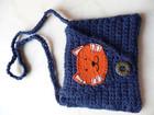 Kleinesbild - Brustbeutel - Portemonnaie - Brusttasche Katze für Kinder