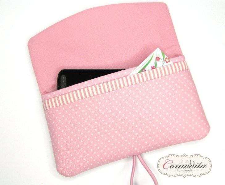 Kleinesbild - Handytasche / Handyhülle / Handysocke / Smartphonetasche mit 2 Fächern