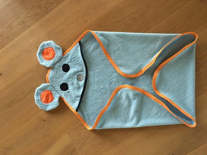 Kleinesbild - Kapuzenbadetuch Baby Handtuch Badetuch // Mädchen und Jungen // Auswahlstoff // Design MAUS