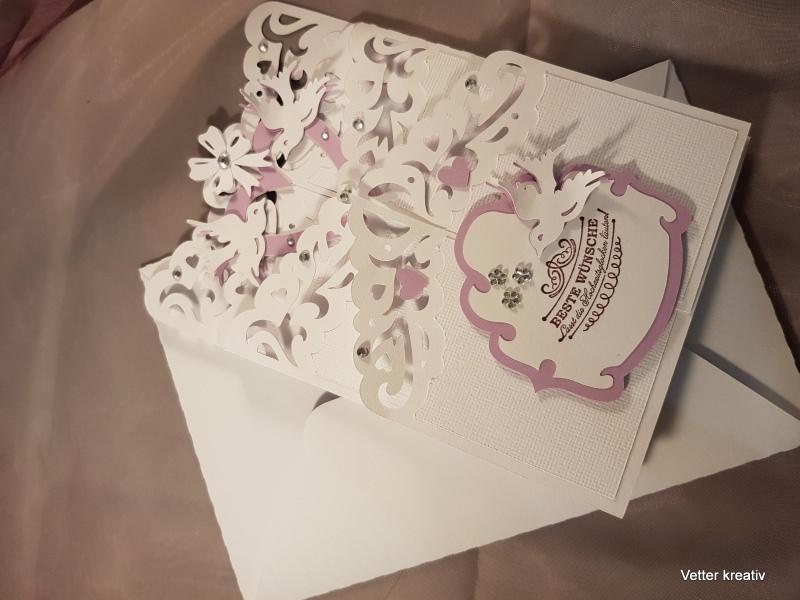 Kleinesbild - Karte Hochzeit - Kaskadenkarte - Cascade card