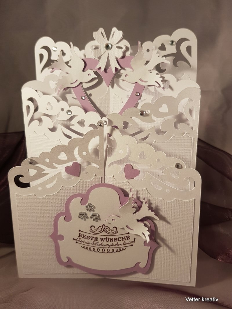 - Karte Hochzeit - Kaskadenkarte - Cascade card - Karte Hochzeit - Kaskadenkarte - Cascade card