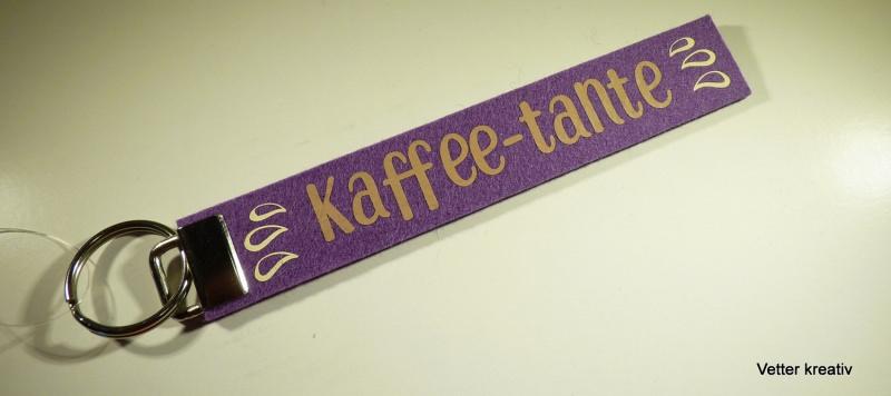 - ☆☆ Kaffee-Tante ☆☆ handgefertigter Schlüsselanhänger aus Wollfilz - ☆☆ Kaffee-Tante ☆☆ handgefertigter Schlüsselanhänger aus Wollfilz
