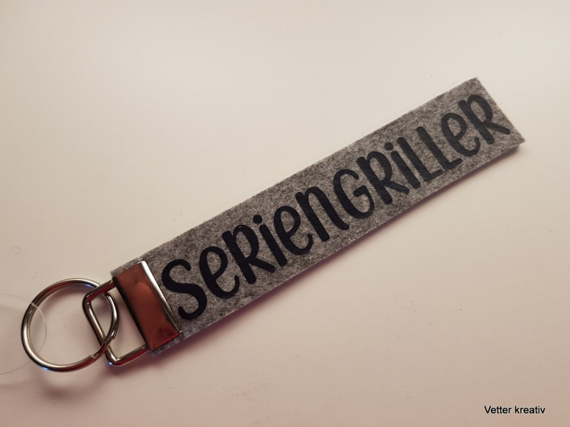 - ☆☆ Seriengriller ☆☆ handgefertigter Schlüsselanhänger aus Wollfilz - ☆☆ Seriengriller ☆☆ handgefertigter Schlüsselanhänger aus Wollfilz