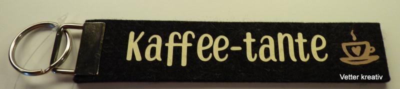 Kleinesbild - ☆☆ Kaffee-Tante ☆☆ handgefertigter Schlüsselanhänger aus Wollfilz