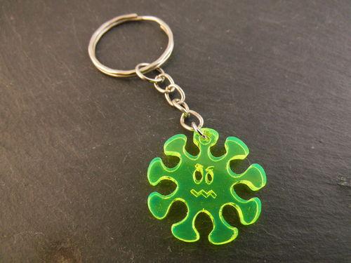 - Schlüsselanhänger Virus Männergrippe Neon grün fluoreszierend Taschenbaumler - Schlüsselanhänger Virus Männergrippe Neon grün fluoreszierend Taschenbaumler