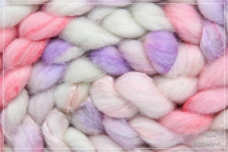 Kleinesbild -  ☆ Little Women ☆   BFL & Seide ༄ Handgefärbter Kammzug ༄ 100g  ☆