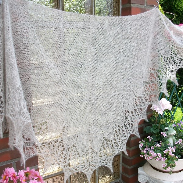 - Lacetuch  *DAILY*  mit Farbwahl / gestricktes Schultertuch - Lacetuch  *DAILY*  mit Farbwahl / gestricktes Schultertuch