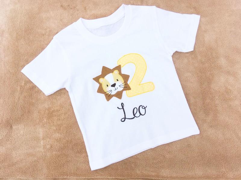 Kleinesbild - Geburtstagsshirt Löwe mit Wunschname & Wunschzahl - Farbwahl