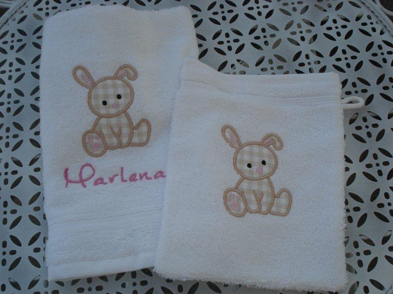 - Baby Waschlappen & Handtuch mit Motiv und Namen - Baby Waschlappen & Handtuch mit Motiv und Namen