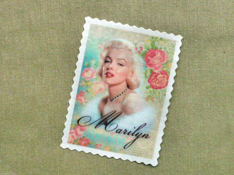 "- Marilyn Monroe "" Hollywood Stars "" Label Applikation Stoffbild NO. 130 - Marilyn Monroe "" Hollywood Stars "" Label Applikation Stoffbild NO. 130"