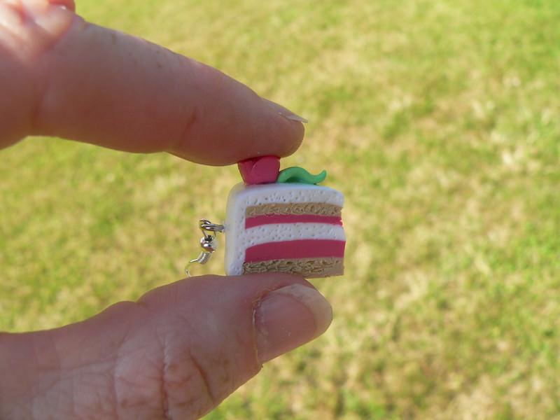 Kleinesbild -  Ohrhänger Marzipantorte Ohrringe aus Fimo handmodelliert Candyschmuck