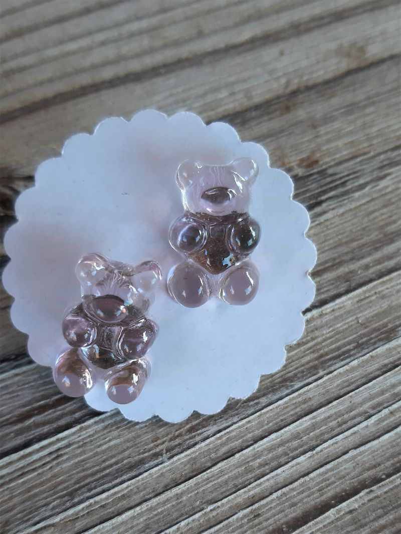 Kleinesbild -  Ohrstecker Ohrringe bunte Süßigkeiten witziger Ohrschmuck Gummibären