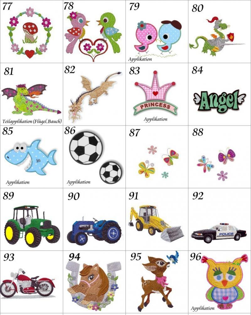 Kleinesbild -    ♡::::Auswahl Motive Stickerei für Kita Tasche aus meinem Shop ::::♡ BITTE NICHT KAUFEN!