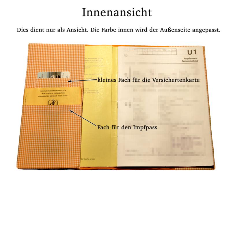 Kleinesbild -   ♡ U-Heft Schutzumschlag mit Namen ♡ handgefertigt mit Stickerei