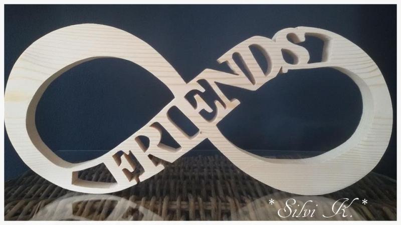 - Unendlichkeitszeichen L:35cm Friends naturbelassenes Fichtenholz - Unendlichkeitszeichen L:35cm Friends naturbelassenes Fichtenholz