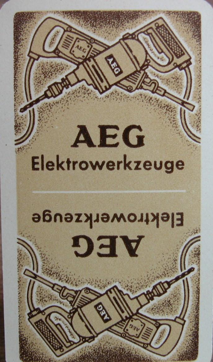 - Kartenspiel AEG Elektrowerkzeuge,31 Karten von Altenburger Spielkarten - Kartenspiel AEG Elektrowerkzeuge,31 Karten von Altenburger Spielkarten