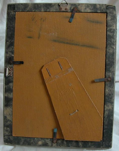 Kleinesbild - Stuckbilderrahmen aus den 50er Jahren,alterbedingte Gebrauchsspuren,guter Zustand.