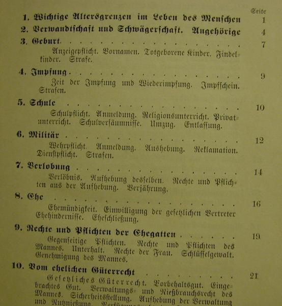 Kleinesbild - Praktisches Handbuch für den preussischen Staatsbürger,ein Ratgeber in Familien-Gesinde-Miet-Steuer-Vormundschafts-Eigentums-Erbschafts-und anderen Angelegenheiten