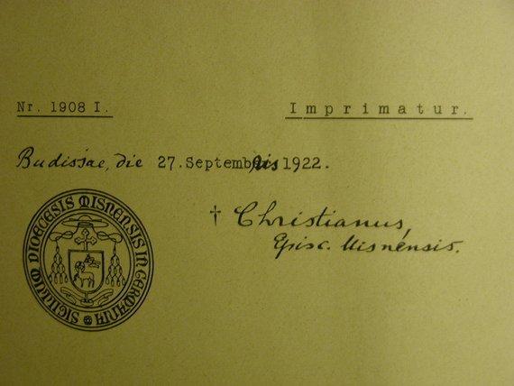 Kleinesbild - Der katholische Hausschatz 27. September 1922,Ein Wegweiser und Erbauungsbuch für alle Stände