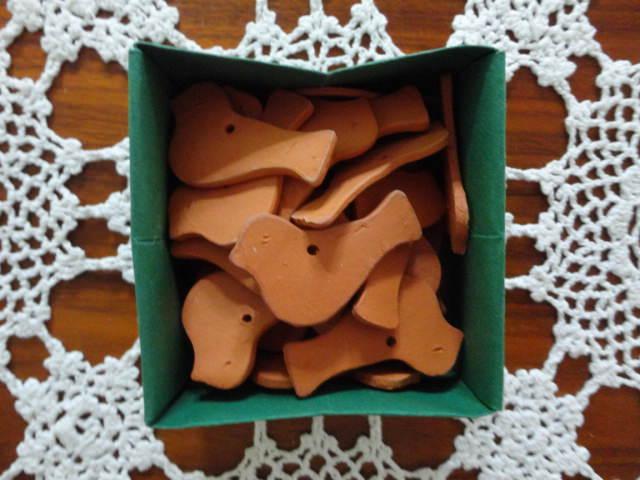 - Keramikvögel, 10er-Set, Keramikanhänger - Keramikvögel, 10er-Set, Keramikanhänger
