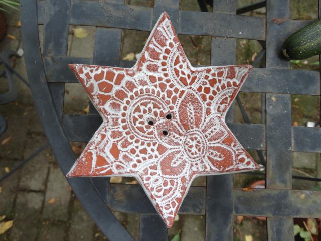 Kleinesbild - Seifenschale Stern, 1 aus 2, Keramik