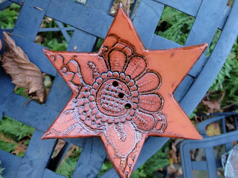 - Seifenschale Stern, 1 aus 2, Keramik - Seifenschale Stern, 1 aus 2, Keramik