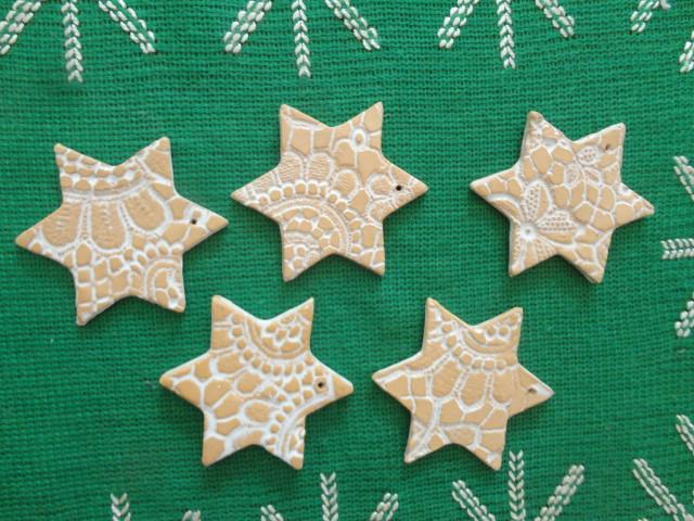 Kleinesbild - Sterne, 5er-Set, Keramiksterne