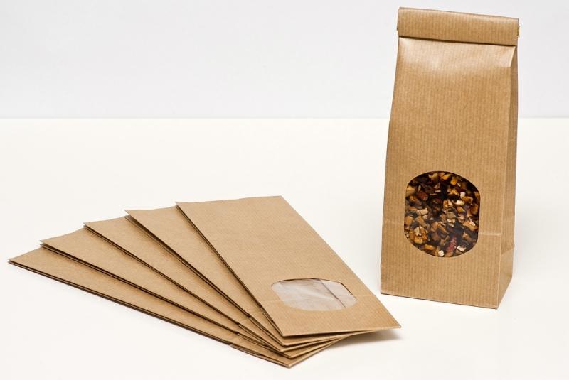 - ♡ 10 Papiertüten 70 x 40 x 205 mm  Bodenbeutel Fensterbeutel Papiertüten mit Fenster für etwa 100 g ♡ - ♡ 10 Papiertüten 70 x 40 x 205 mm  Bodenbeutel Fensterbeutel Papiertüten mit Fenster für etwa 100 g ♡