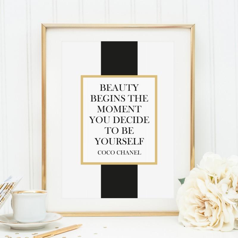 - Fashion Poster, Kunstdruck, Spruch: Coco Chanel Zitat - Fashion Poster, Kunstdruck, Spruch: Coco Chanel Zitat