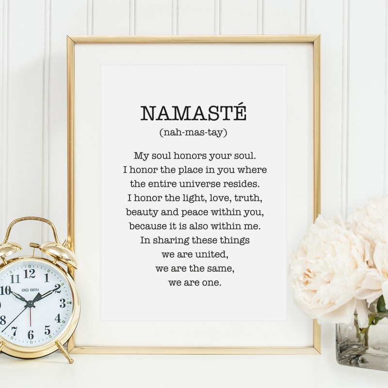 - Poster, Kunstdruck, Yoga Wandbild: Namasté - Poster, Kunstdruck, Yoga Wandbild: Namasté