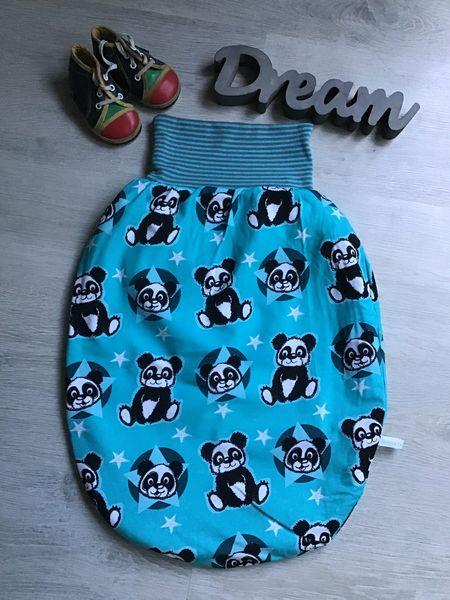 - Pucksack Schlafsack Fußsack Baby  gefüttert Geschenk Geburt Taufe -  Panda türkis - Pucksack Schlafsack Fußsack Baby  gefüttert Geschenk Geburt Taufe -  Panda türkis