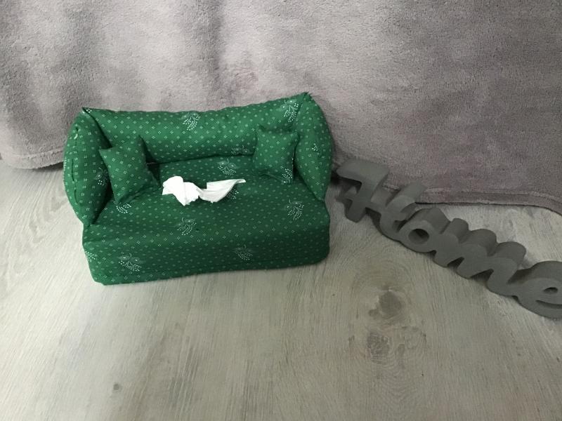 Kleinesbild -  Deko-Sofa ,Kosmetikbox Sofa ,Taschentücherbox Sofa -  Landhausstil grün