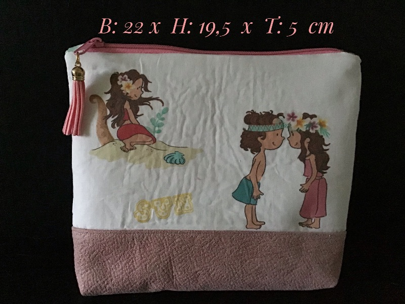 - Kulturtasche  ❤️ Mädchen ❤️ Unikat - Hawaii Kinder - Kulturtasche  ❤️ Mädchen ❤️ Unikat - Hawaii Kinder