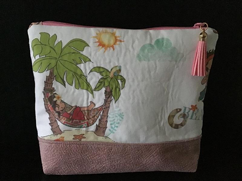 Kleinesbild - Kulturtasche  ❤️ Mädchen ❤️ Unikat - Hawaii Kinder