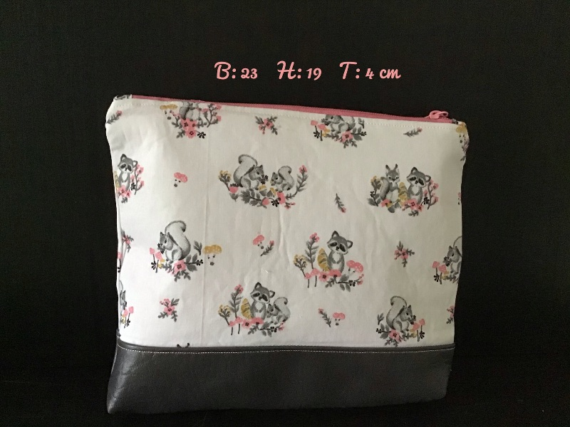 - Kulturtasche  ❤️ Mädchen ❤️ Unikat - Waschbär/Eichhörnchen - Kulturtasche  ❤️ Mädchen ❤️ Unikat - Waschbär/Eichhörnchen