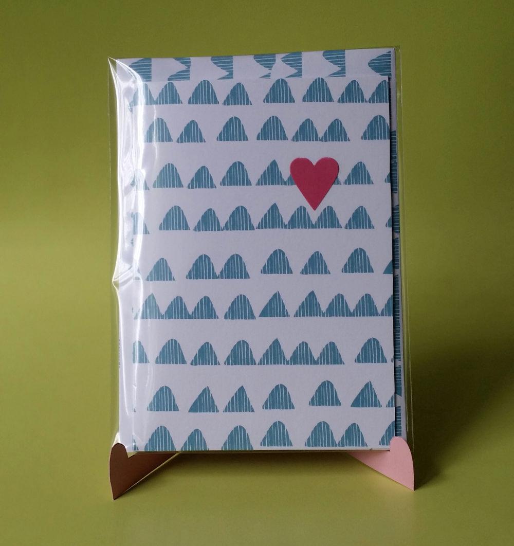 - Grußkarte mit Herz - Grußkarte mit Herz