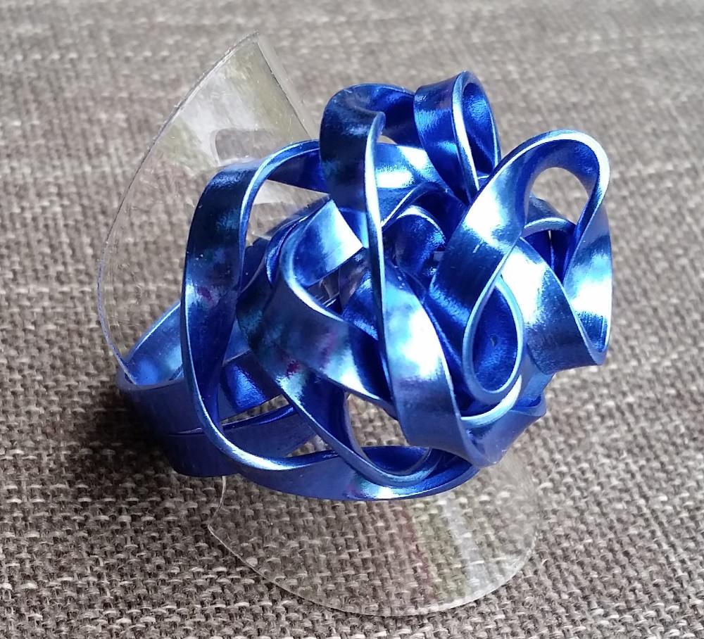 - Ring aus Aluminiumdraht, Gr. 62 - Ring aus Aluminiumdraht, Gr. 62