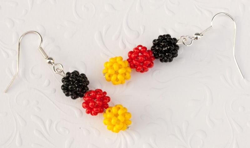 Kleinesbild - Fan - Ohrringe: Deutschland ~ schwarz, rot, gelb