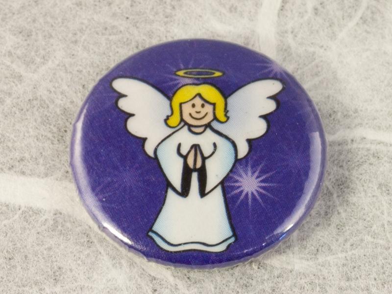 - Button mit Motiv: Engel mit Sternenhimmel ~ 25mm - Button mit Motiv: Engel mit Sternenhimmel ~ 25mm