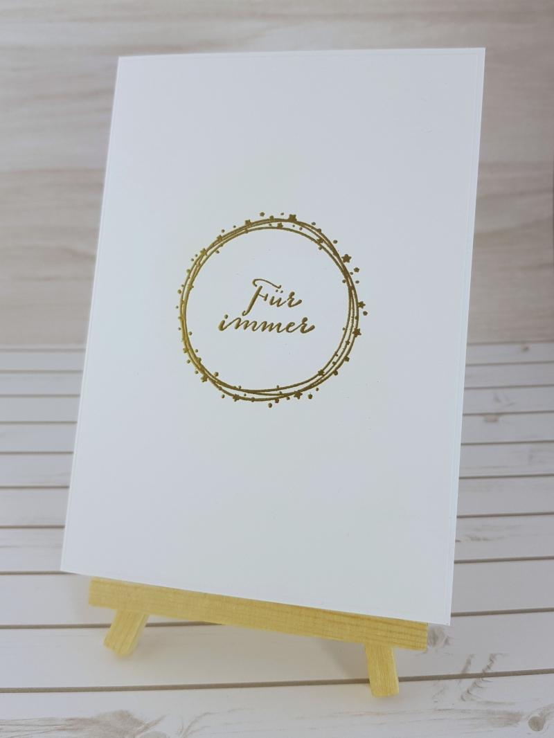 - Für immer ~ Karte zur Hochzeit - Für immer ~ Karte zur Hochzeit