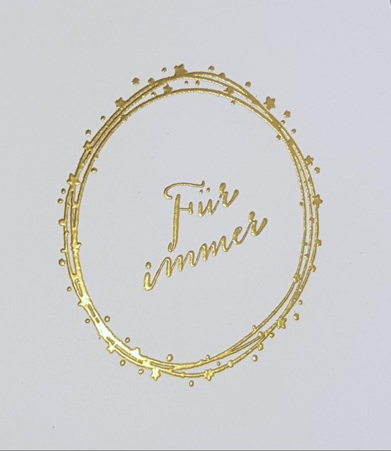 Kleinesbild - Für immer ~ Karte zur Hochzeit