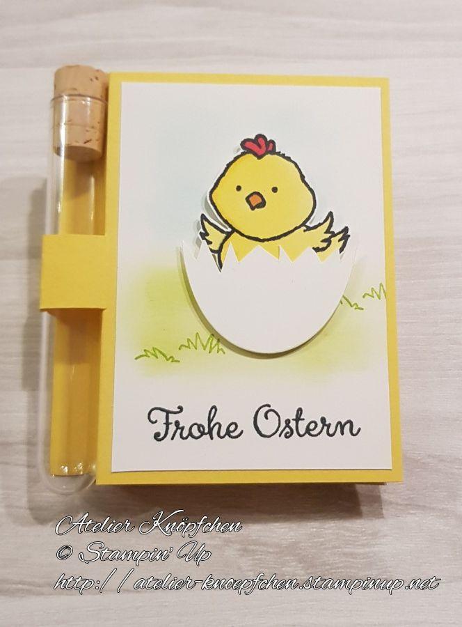 - Wunscherfüllerkarte zu Ostern: Osterküken - Wunscherfüllerkarte zu Ostern: Osterküken
