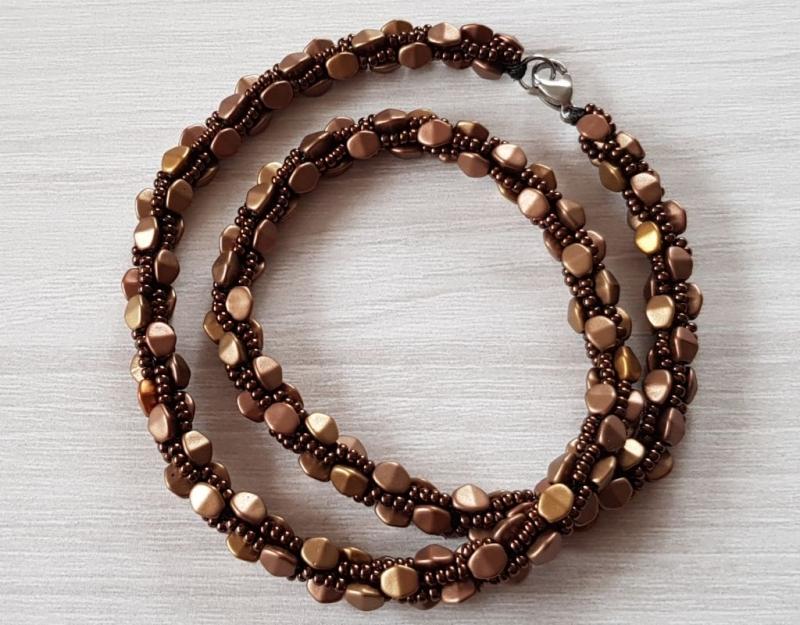 - Häkelkette: Pinch Beads ~ Matte Met Mix - Häkelkette: Pinch Beads ~ Matte Met Mix