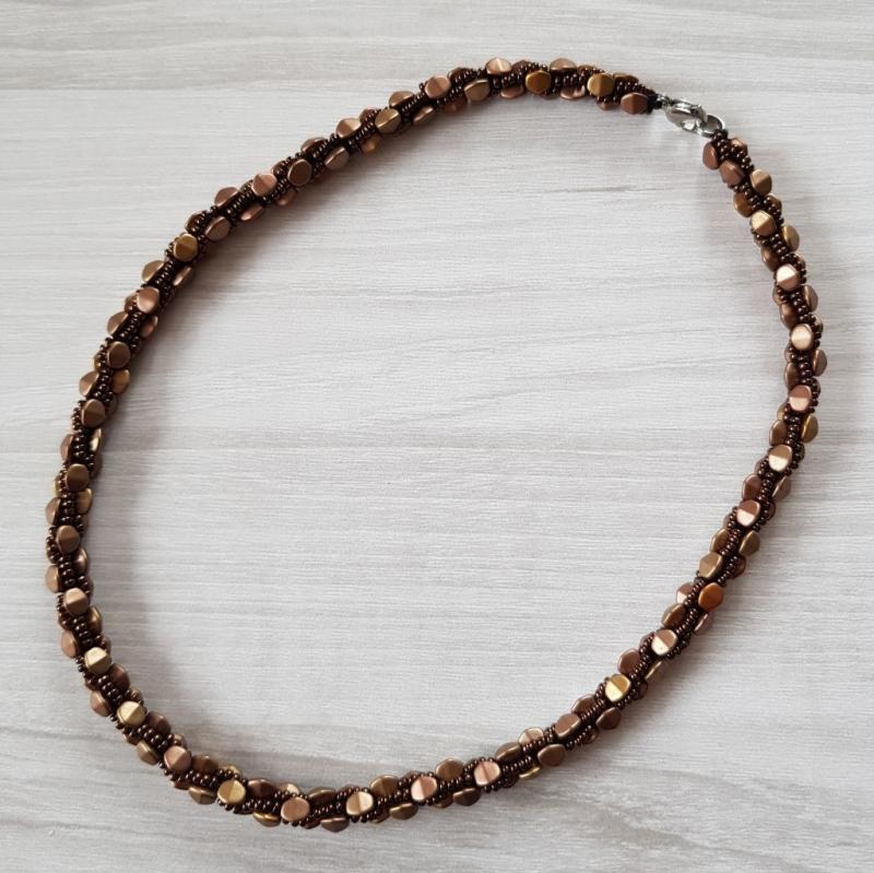 Kleinesbild - Häkelkette: Pinch Beads ~ Matte Met Mix