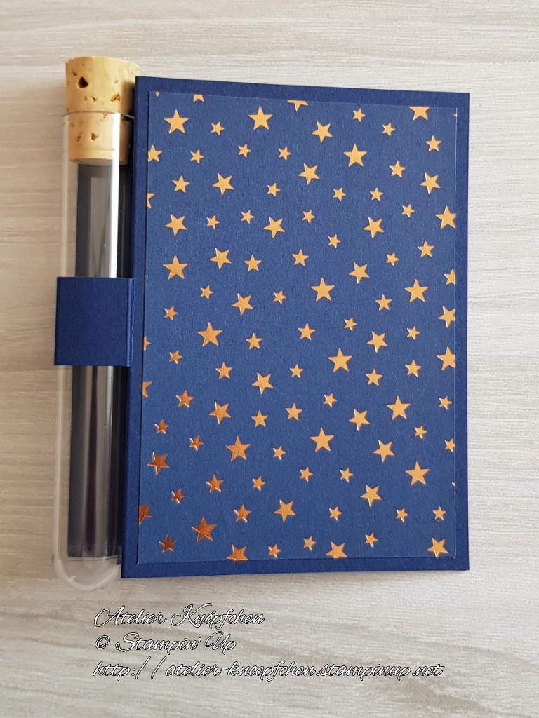 - Wunscherfüllerkarte zu Weihnachten: kupferfarbener Sternenhimmel - Wunscherfüllerkarte zu Weihnachten: kupferfarbener Sternenhimmel