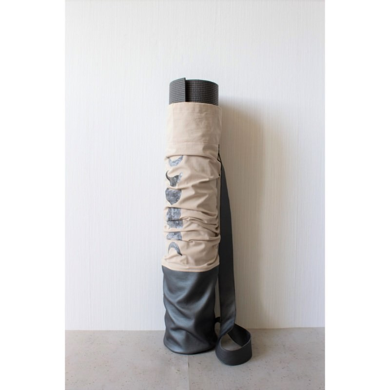 Kleinesbild - Mattentasche aus Kunstleder und Baumwolle grau rosé perlmutt [vegan]
