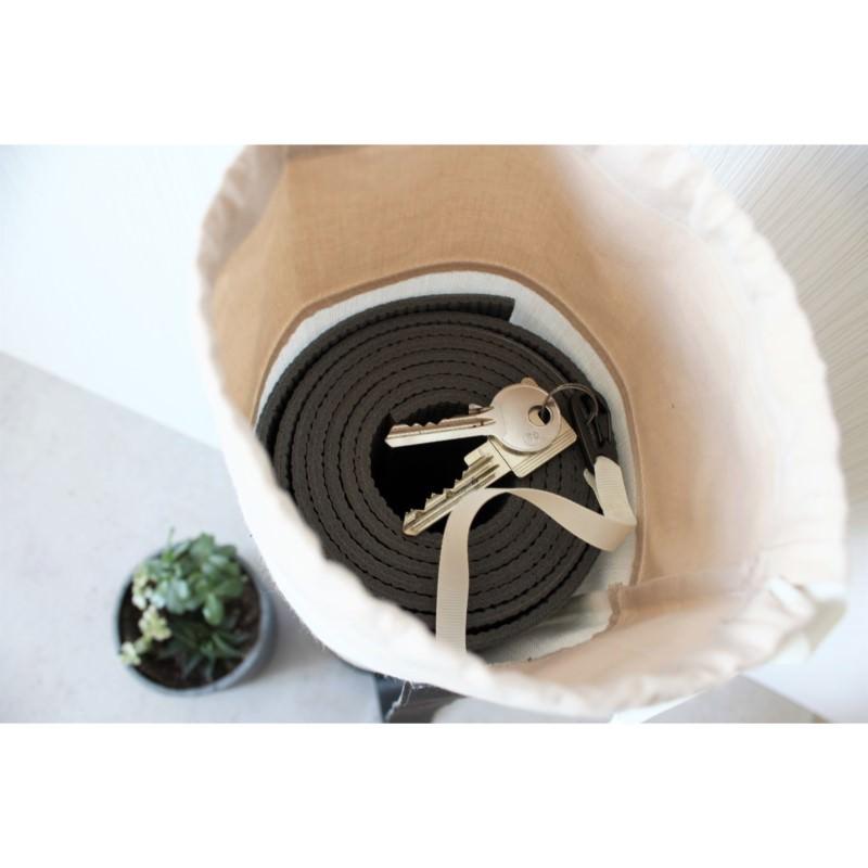 Kleinesbild - Taschen-Set aus Kunstleder und Baumwolle grau weiß rosé [vegan]