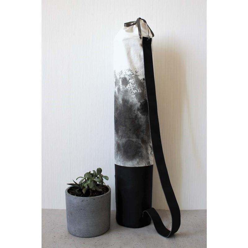 - Mattentasche 2.0 aus Kunstleder und Baumwolle schwarz weiß grau [vegan] - Mattentasche 2.0 aus Kunstleder und Baumwolle schwarz weiß grau [vegan]